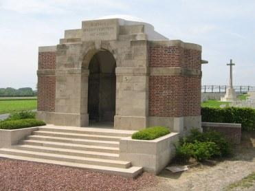 (Duisans British Cemetery, Etrun, Pas de Calais, France where John Matheson is buried. Ⓒ CWGC)
